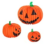 Halloween Pumpkin Paper Lantern Table Centerpiece Jack-O-Lantern Party Decorations - 6 Pack