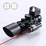 3-10X42 Rifle/Airsoft Hunting Scope + Red & Green Dot Sight + Tactical laser available on 20/11mm Weaver/Picatinny Rail