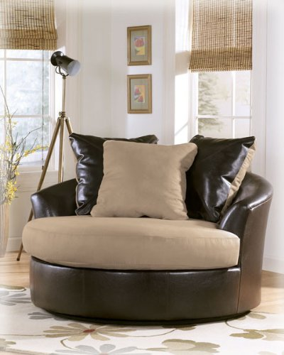 Logan - Stone Oversized Swivel Accent Chair by Ashely Furniture
