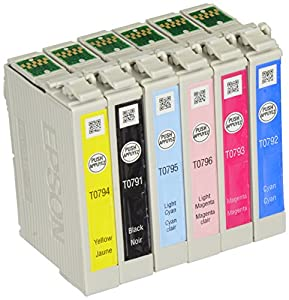6 Pack (Full Set) Genuine Epson 79 Ink Cartridges for Epson Stylus Photo 1400 Printer in Foil Packaging - No Retail Box