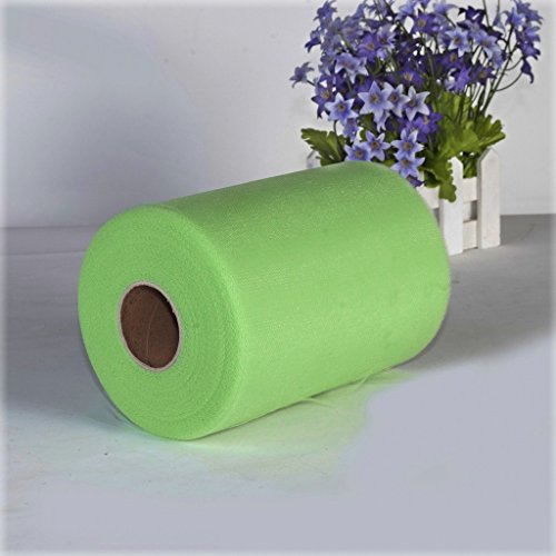 6-100-Yards-Rollo-de-Tul-Papel-Decoracin-Regalo-para-Boda-Verde