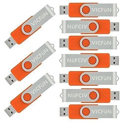 10pcs 2GB USB Flash Drive 2G Orange color USB 2.0 Flash memory stick Foldable Thumb stick