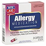 Rite Aid Pharmacy Allergy Medication, 25 mg, Capsules, 24 capsules