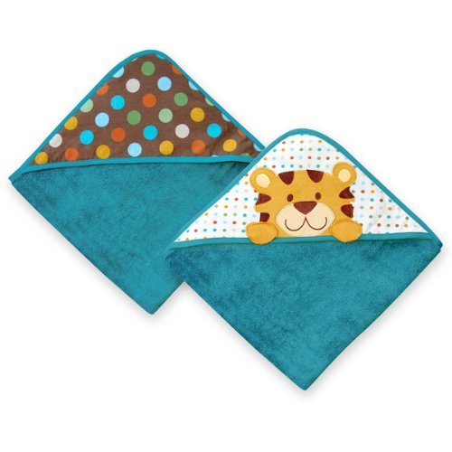 Hooded Terry Towels (set of 2) - Tiger