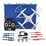 RC Quadcopter with Carrying Case & amp; Parts, Potensic Premium Upgraded X5C-1 Syma 2.4GHz CH 6 Axis Gyro RC quadcopter with extra spare parts and carry bag
