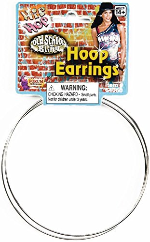 [Hip Hop Jumbo Hoop Earrings Adult] (In Stock Hip Hop Costumes)