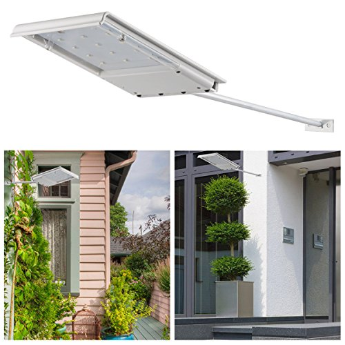 InnoGear Waterproof Solar Powered LED Lights Security Night Light Wall Lamp