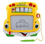 School Bus Magnetic Writing Drawing Doodle Board for Kids