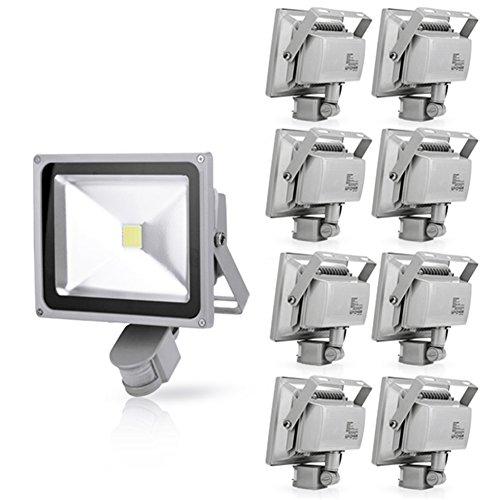 Generic 9Pcs 30W Cool White Led Induction Lamp Pir Motion Sensor Ip65 Outdoor Floodlight 85-265V
