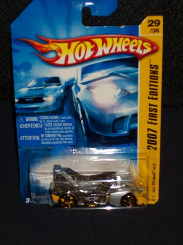 Hot Wheels 2007 029 29 First Editions Jet Threat 4.0 Yellow And Silver