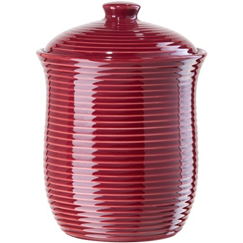 Ceramic Large Red Kitchen Canister