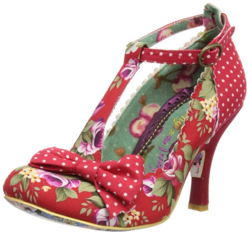 Irregular Choice Bloxy Rosso High Heels, Rosso (Red Floral), 36