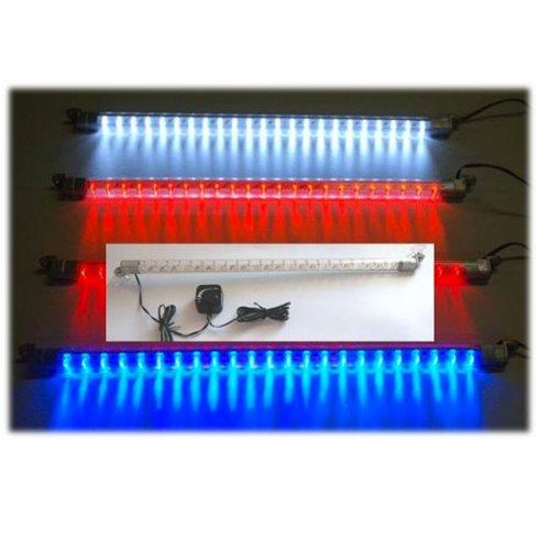 89409A-1 46 Led Strobe Light Bar W/Adjustable Flasher White Strobe Tube