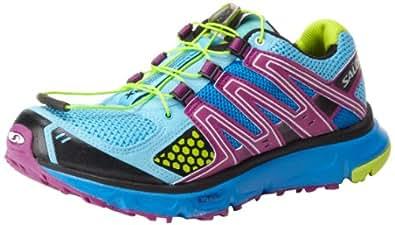 Salomon Women's XR Mission Trail Running Shoe,Score Blue/Very Purple/Pop Green,5 M US