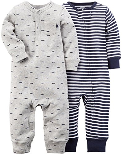 Carter's Baby Boys' 2 Pack Coveralls (Baby) - Navy - 6M
