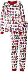 Hatley Little Girls'  Pajama Set - Patterned Orchard Apples