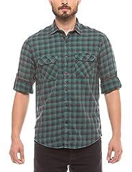 Prym Men's Casual Shirt (8907423015265_2011510502_Large_Green)