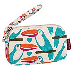 Bungalow360 Womens Canvas Coin Pouch Wallet (Toucan)
