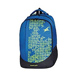 Fastrack Blue Non-Leather Backpack - A0614NBL02