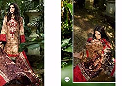 Aditya Fashion Designer Multi marine Color Unstitched Dress Material Salwar Kameez