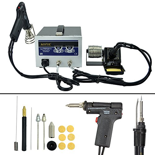 Aoyue 701A++ Dual Function Digital Soldering and Desoldering Station with a Smoke Absorber (Hakko 808 Desoldering Gun compare prices)