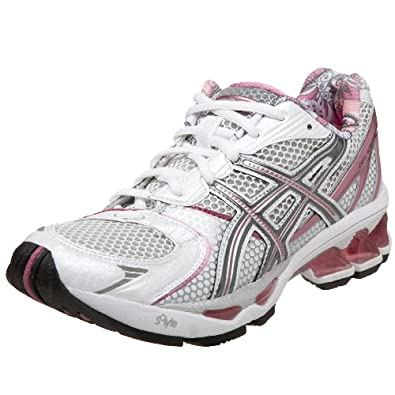ASICS Women's GEL-Kayano 15 Running Shoe,White/Carbon/Ochid,11.5 B US