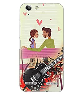 PrintDhaba Couple with Guitar D-4100 Back Case Cover for LENOVO VIBE K5 PLUS (Multi-Coloured)
