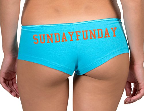 Kamal Ohava Women's Boyshort Panty Custom Neon Text, Turquoise, Small Personalized Cheer Shorts