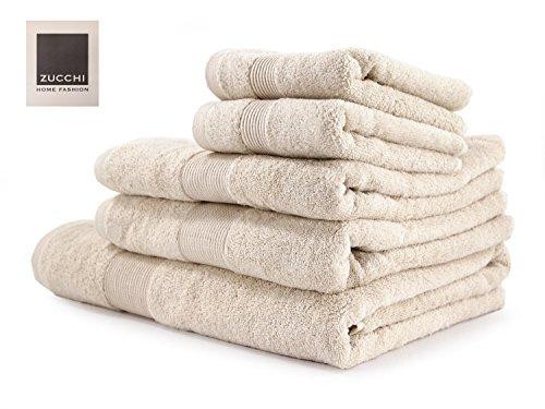 SET asciugamano 5 PEZZI Zucchi HOME FASHION variante BEIGE