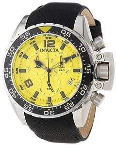 Invicta Men's 12452 Corduba Chronograph Yellow Dial Black Nylon Watch