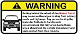 Nissan Patrol (1999) Funny Warning Off Road Sticker, Decal, perfect gift