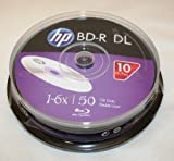 HP BD-R DL 6X 50GB Double Layer 10 Pack in Spindle