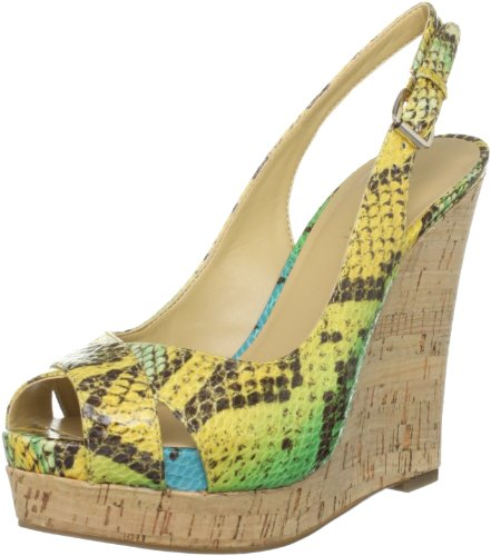 Nine West Women's Laffnplay Green Other Wedges Heels 2842379979 7 UK