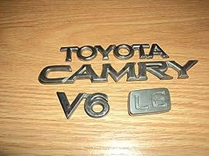 98 toyota camry le v6 rear trunk chrome emblem logo badge set of 4 automotive. Black Bedroom Furniture Sets. Home Design Ideas