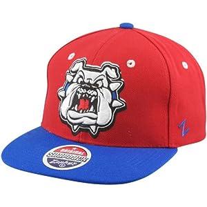 NCAA Fresno State Bulldogs Refresh Snapback Cap, Scarlet by Zephyr