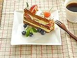 【M'home style】白い食器 クロススクエアー16.1cmホワイトレベル2