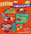 Peaceable Kingdom  Crazy Critters Temporary Tattoo Valentine