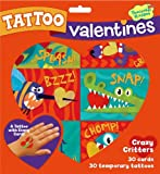 Peaceable Kingdom / Crazy Critters Temporary Tattoo Valentine Cards