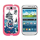 Chinese Dragon Waves and Pagoda - Snap On Hard Protective Case for Samsung Galaxy S3 - Pink