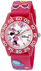 Disney Infinity Kids W002460 Minnie Mouse Analog Display Analog Quartz Pink Watch