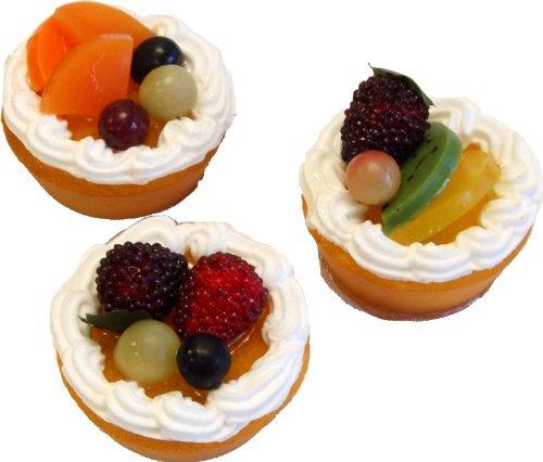 Fruit Tarts Fake Food 2 Inch Assorted 3 Pack