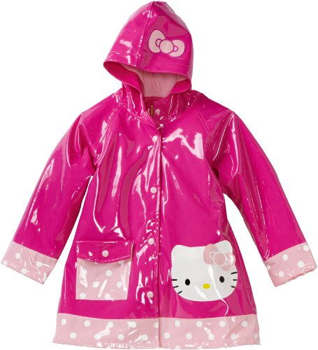 Western Chief Girls 2-6x Hello Kitty Polka Dot Cutie Raincoat, Pink, 5/6