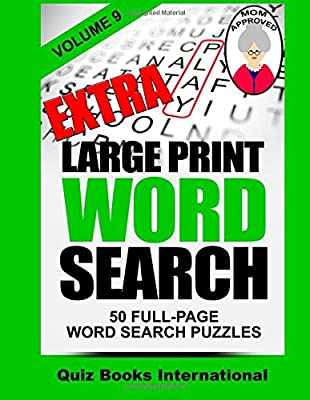 Extra Large Print Word Search Volume 9