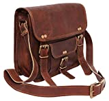 #9: pranjals house vintage handmade genuine leather small briefcase ipad tab tablet bag size (L) 11 (H) 9 (W)3