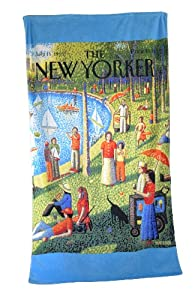Conde Nast THE NEW YORKER Central Park Beach Towel, Bob Knox Art