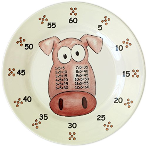 The Multiples Times Table Dinnerware Porky Five Bellies 9 inch Melamine Plate