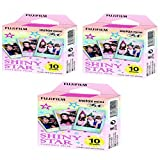 Fujifilm Instax Mini Instant Film Shiny Star -10 Sheets (3 packs set x 30 photos)