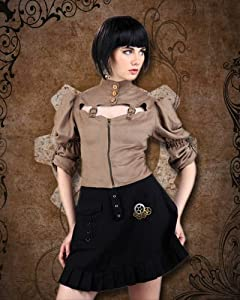 Moire Steampunk Tie-Back Blouse (Medium) from Patterns of Time