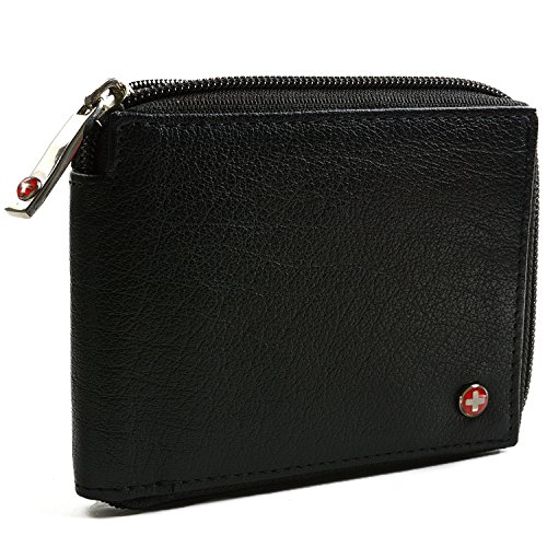 alpine-swiss-mens-leather-zip-around-wallet-id-card-secure-zipper-bifold-black