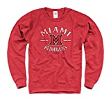 Miami Redhawks Focus Frech Terry Crewneck Sweatshirt - Red